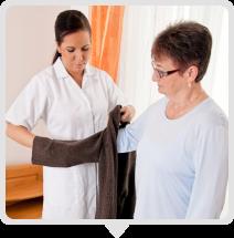 caregiver caring elderly