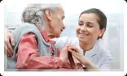 A helping caregiver